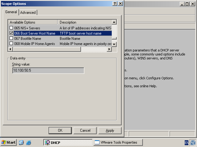 Windows Terminal Ware  Boot by network  dhcp and tftp