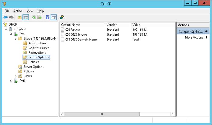 DHCP Server configuration on Windows Server 2012 — Windows