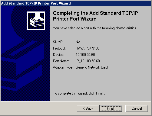 Printer setup wizard